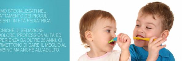 Specializzati nella terapia in età pediatrica e nei bambini.